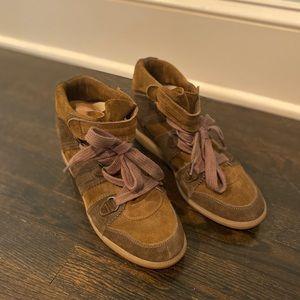 Isabel Marant Wedge Sneaker Khaki Green